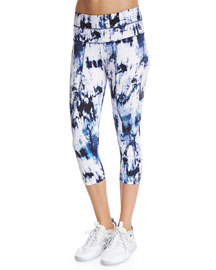Pico Cropped Sport Leggings, Skyscape