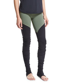 Goddess 2 Colorblock Ribbed Sport Leggings
