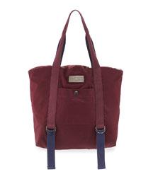 Yoga Tote Bag, Maroon/Blue/Gray