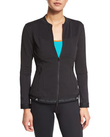 Run Mid-Layer Zip-Front Jacket, Black