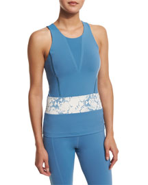 Run Climacool� Racerback Tank, Chino Blue