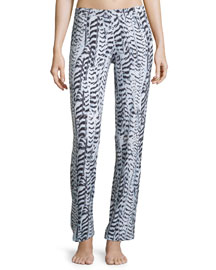 Sedona Printed Pajama Pants, Black/White