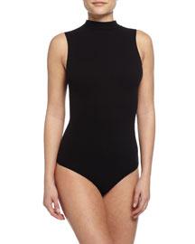 Seamless Mock-Neck Thong Bodysuit