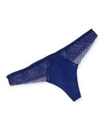 Myrta Lace Thong, Dark Blue