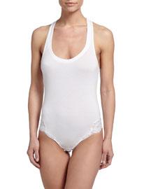 Souple Lace-Trimmed Bodysuit