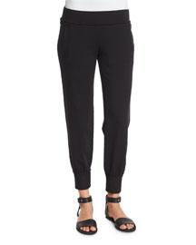 Stretch Jogger Pants, Black