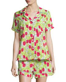 Rouge Holland Tulip-Print Short Pajama Set