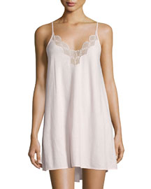 Tranquility Lace-Trim Chemise, Rose