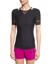 Mesh-Panel High-Performance Tee