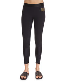 Spectrum Scalloped-Edge Sport Leggings