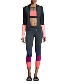 Featherweight Perforated Colorblock Jacket
