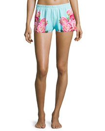 The Photo Op Boxer Shorts, Peony Print