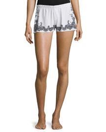 Antique Lace-Print Boxer Shorts