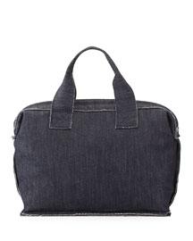 Small Denim Carpet Bag, Indigo