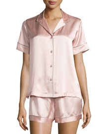 Jasmine Shorty Pajama Set, Rose