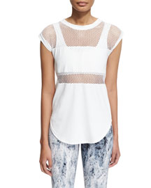 Strand Mesh Technical Athletic Tee, White