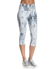 Pico Cropped Sport Leggings, Mercury