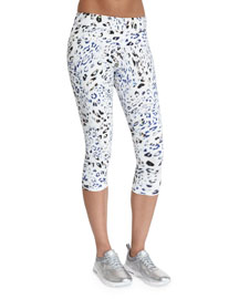 Pico Cropped Sport Leggings, Leopard