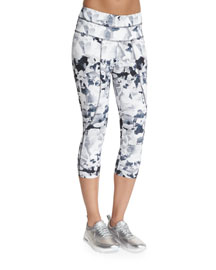 Pico Printed Crop Sport Leggings, Camo
