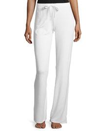 Knit Lounge Pants W/Drawstring, Warm White