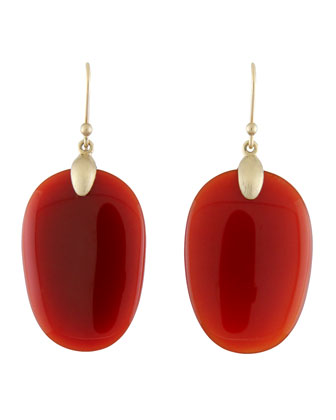 Large Carnelian Chip Earrings