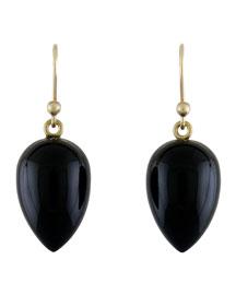 Black Onyx Acorn Earrings
