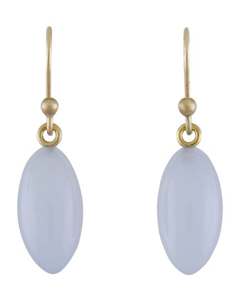 Blue Chalcedony Berry Earrings