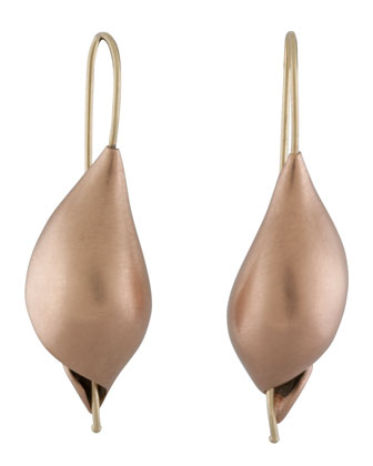Rose Gold Snail Earrings