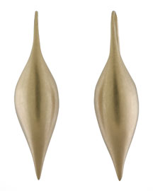Yellow Gold Pod Earrings