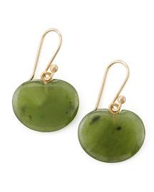 Lily Pad Jade Earrings
