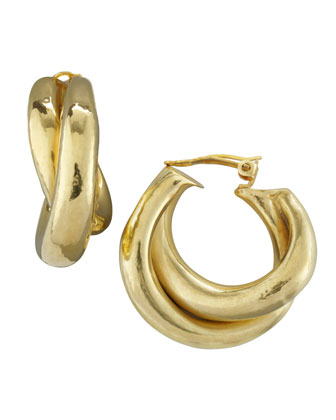 Overlapping Hoop Clip Earrings