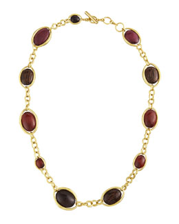 "Vaubel Designs Wood Oval Links Necklace, 36""L"