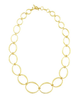 Vaubel Designs Green Gold Oval Links Necklace