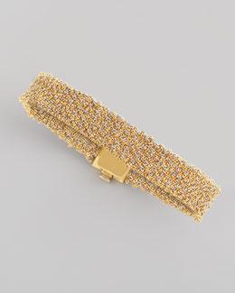 All 18k Gold Woven Bracelet