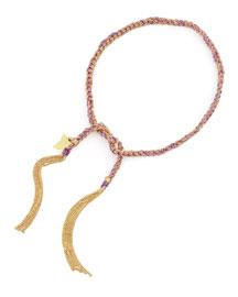 Lucky Butterfly 18k Gold Bracelet, Violet