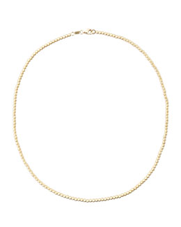 "Carolina Bucci Kaleidoscope 18k Gold Short Disco Bead Necklace, 15""L"