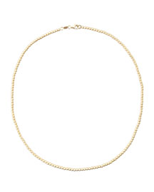 Kaleidoscope 18k Gold Short Disco Bead Necklace, 15