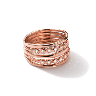 18k Rose Gold Starlet Ring with Diamonds