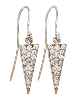 Diamond-Spike 18k Gold Drop Earrings