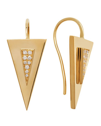 Diamond-Center Arrow Earrings