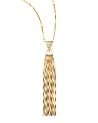 Diamond-Spike 18k Gold Fringe Necklace