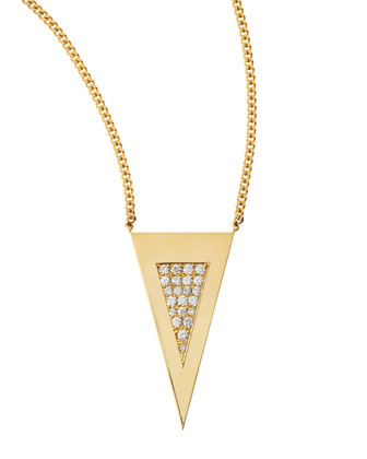 Medium Diamond-Center Triangle Necklace