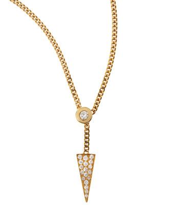 Diamond-Triangle Sliding Necklace