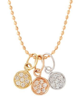 Mini Triple-Disc Pavé Necklace