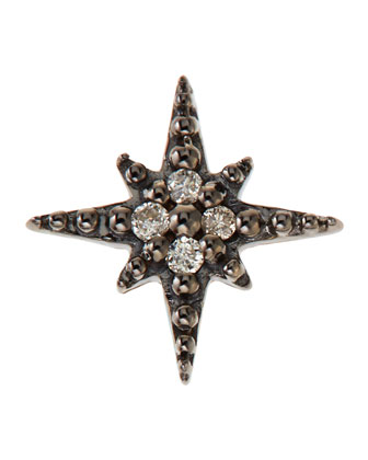 14K Mini Starburst Single Stud Earring with Diamonds