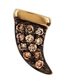 Mini Horn Champagne Diamond Single Stud Earring