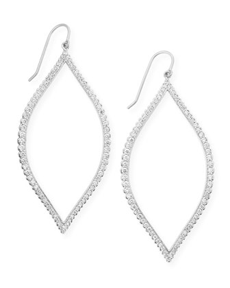 Bezel-Set Marquise Earrings with Diamonds