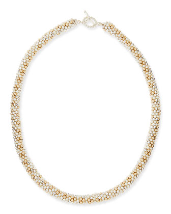 Sue Pearl, Silver and 14k Gold Necklace