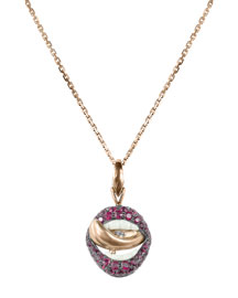 18K Lust Pendant Necklace with Rubies