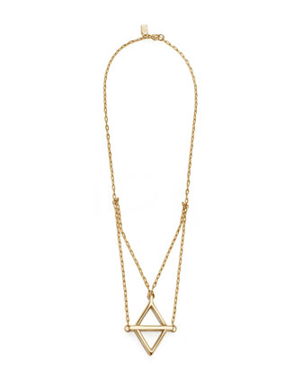 14k Balance Pendant Necklace